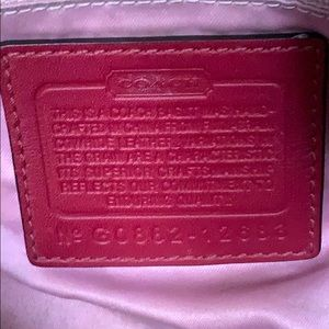 Coach Bags - Authentic COACH red leather Med size hobo Handbag